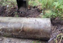 укладка трубы через канаву